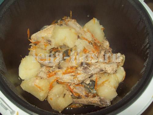 вкусная тушеная курица в мультиварке рецепт с фото