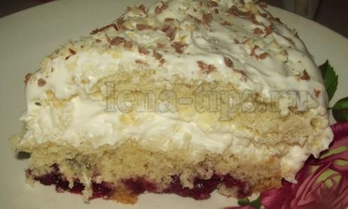 Торт «Нежный» в мультиварке