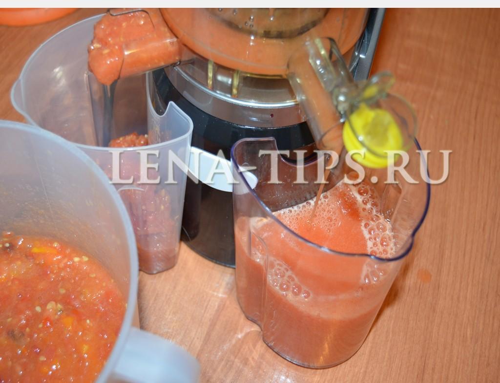Делаем из томатов сок