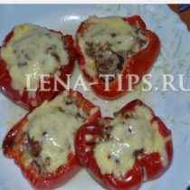Лодочки из болгарского перца